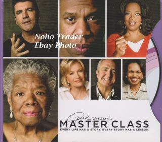 DVD OPRAH PRESENTS MASTER CLASS MAYA ANGELOU DIANE SAWYER PROMO RARE