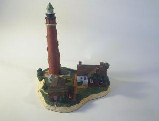Retired Harbour Lights Ponce de Leon Inlet Lighthouse Florida Signed