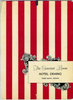 Gourmet Room Hotel Deming Menu Terre Haute Indiana 1957