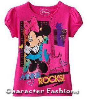 Disney Minnie Mouse Shirt Top Tee Size 4 5 6 Minnie Rocks