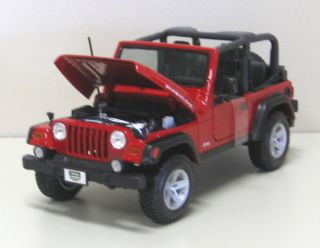 Jeep Wrangler Rubicon Diecast Model Truck Maisto 1 18 Scale Car Red