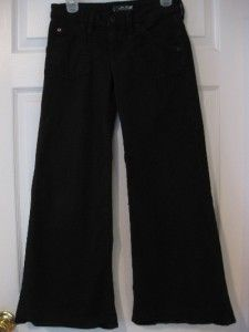 Hudson Vintage Wide Leg Black Pants Jeans Size 27 27 5 x 28 Back Flap
