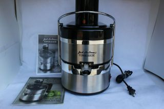 Jack Lalannes Power Juicer Deluxe Juice Extractor Stainless Steel
