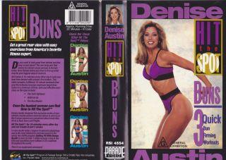 Denise Austin Hit The Spot Buns VHS Video PAL A RARE Find