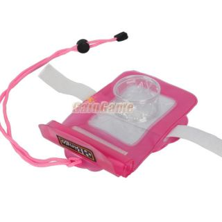 Waterproof Under Water Digital Camera Case Bag 20M Red