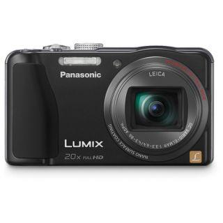 Lumix ZS20 Black 14.1 MP Digital Camera Bundle, Case + 8GB + Tripod