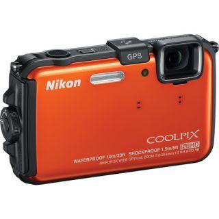 AW100 Waterproof Digital Camera Orange Refurbished 018208130955