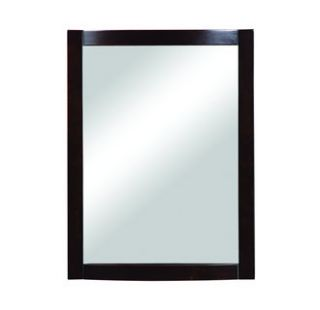 DecoLav 9711 ESP Espresso Gavin 24 Rectangular Wall Mirror with Solid
