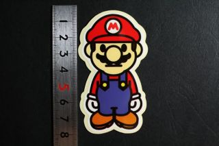 Super Mario Skateboard Guitar Car Windows Sticker Pack
