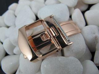 20mm Stainless Steel Watch Deployment buckle strap Rose Gold Design