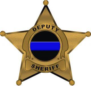 Deputy Sheriff 5 Point Star Reflective Decal