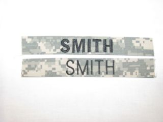 Army Custom Name Tapes on Digital Tape You Design