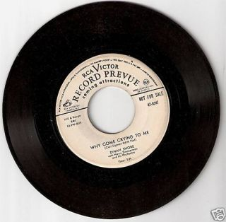 Dinah Shore Why Come Crying to Me Sweet Thing Promo 45