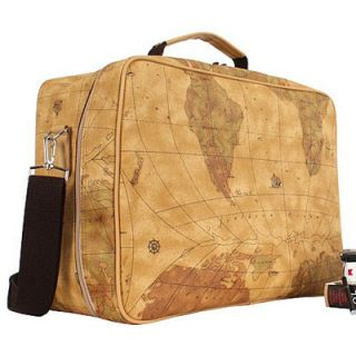Brown World Map Design Travel Bag Shoulder Cross Purse