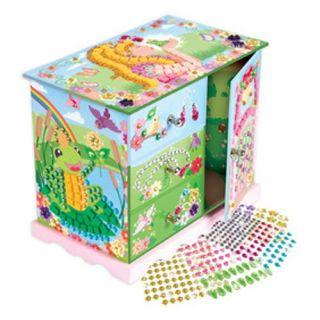 New Design Super Fun Mosaics Jewelry Box Kids Crafts Make Your Own Kit