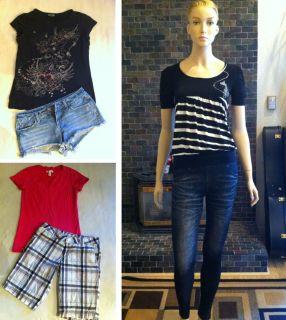 Lot 6 PC Juniors Womens Outfit Tops Shirts Leggings Bermuda Shorts