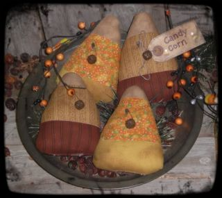 Primitive Grungy Halloween Candy Corn Ornies Bowl Fillers Tucks
