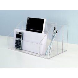 Compartment Mail Sorter Desk Organizer by U s Acrylic 5008