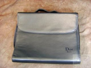 Christian Dior Silver Gray Professional Makeup Travel Bag With Mirror