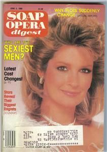 Soap Opera Digest Days of Our Lives Deidre Hall 1986
