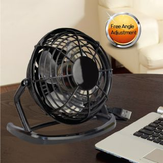 New Portable Super Quiet Mute PC USB Powered Cooling Cooler Desk Fan