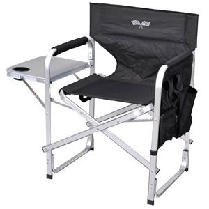 Directors Chair Camping Heavy Duty Aluminum Checkered Flag Chair