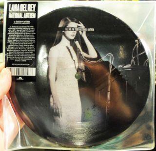 Lana Del Rey National Anthem Bretton Labs Remix Vinyl 7 Picture Disc