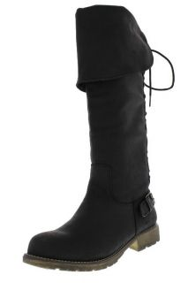 Dirty Laundry New Rumplestilz Black Back Lace Up Knee High Boots Shoes