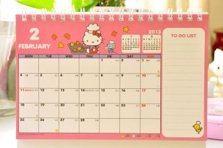 2013 Sanrio Hello Kitty Desk Calendar Plan 18.8 x 13.5 cm / 7.4 x 5.3