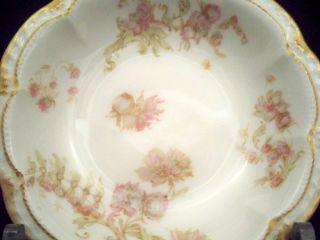 Limoges Schleiger 235F Double Gold Fruit Berry Dessert Bowl Dish #1/10