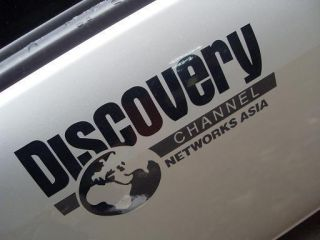 Discovery Channel Car Racing Graphic Decal Sticker Black