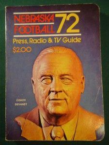 of Nebraska Cornhusker Football Press Media Guide Devaney 72