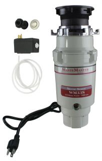 Wastemaster 1 3 HP Disposal with Stainless Steel Air Switch Kit