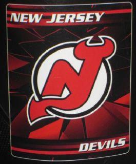 New Jersey Devils Soft Fleece Throw Gift Blanket NHL Hockey Team Logo