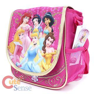 disney Princess Large Shcool Roller Bag Rolling Backpack Lunch Bag Set