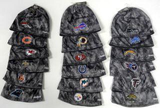 NFL Reebok Player Sideline Gray Camo Camouflage Knit Hat Beanie Cap