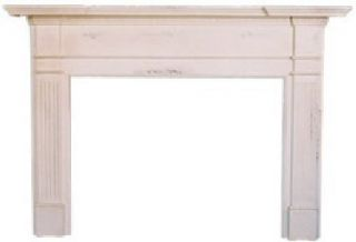 Fluted Column Wood Mantle Mantel Distressed Paints Old World opean