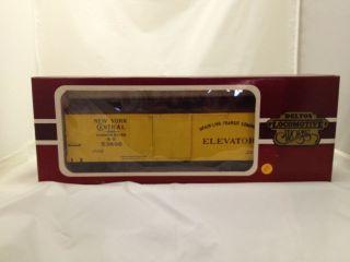 Delton locomtoive G scale model train   New York Central box car stock