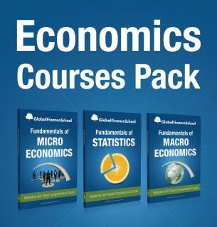 Economics 3 Courses Pack DVD Microeconomics Macroeconomics Statistics