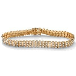 Carat Genuine Diamond 18K Gold s Link Tennis Bracelet 8 Inch