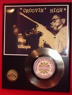 Dizzy Gillespie 24K Gold Record Jazz Gift Limited Edition