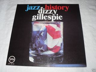 Dizzy Gillespie Jazz History Vol 3 2 LP Verve Records