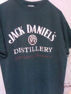 Vtg Retro Jack Daniels Old No 7 Distillery Lynchburg Tennessee Shirt