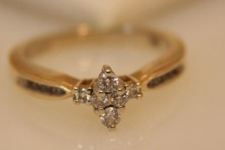 14k Keepsake Yellow Gold Diamond Engagement Ring 20 tcw Marquise Very