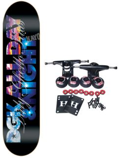 dgk skateboard complete all day and night black 8 1