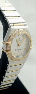 Omega Constellation Ladies Gold Diamond Mother of Pearl 1365 71