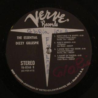 The Essential DIZZY GILLESPIE Verve LP (Stan Getz, Sonny Rollins, Max