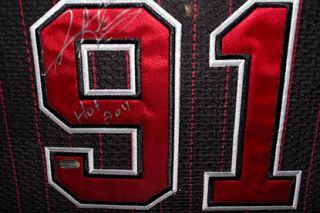 Dennis Rodman HOF 2011 Framed Autographed Chicago Bulls Jersey