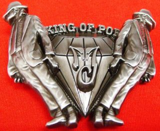 Michael Jackson King of Pop Diamond Belt Buckle New