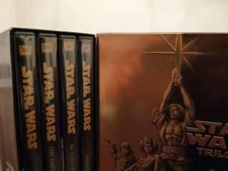 Star Wars Trilogy DVD 2004 4 Disc Set Fullscreen Complete Used